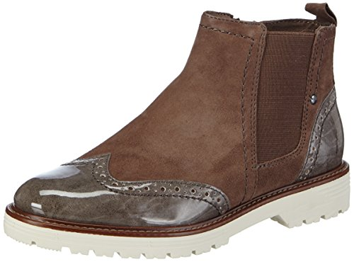 Jana 25400 Damen Chelsea Boots Braun (braun (TAUPE COMB 349 ))