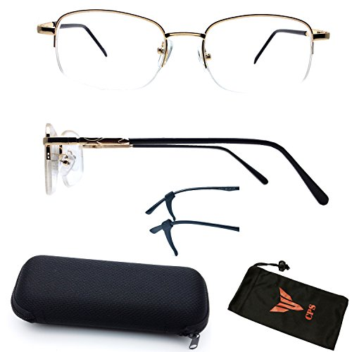 (#309) 1 Pair Nearsighted Myopia Lens Rectangular Shape Half Rimmed Metal Wired Optical Frameless Glasses (These Are Not Reading - Glasses Frameless Optical