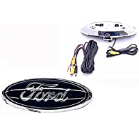 Ford OE Fit Emblem Logo Backup Camera for 2004-14 F-150, 2008-16 F250/F-350, 2009-12 Flex (not compatible with factory radio display)