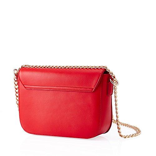 Barbie BBFB419 Bolso de Moda de Estilo Simple de Correas de Cadena Bolso bandolera Rojo
