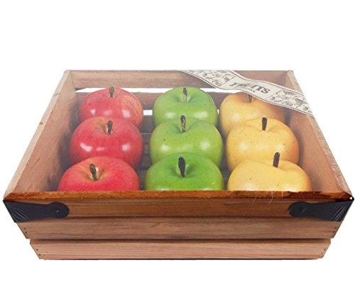 Flora Bunda FT2458 9PCS APPLES IN WOOD CRATE-6 CRATES