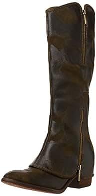 Donald J Pliner Women's Devi Riding Boot,Olive Vintage Suede,5.5 M US