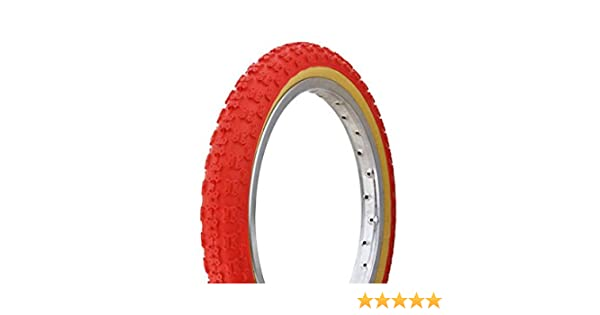16 x 2.125 Red Comp 3 III tread Duro Gumwall BMX Tire