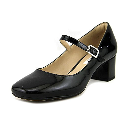 Clarks Womens Chinaberry Pop Leather Closed Toe Mary, Black Patent, Size 7.5 US/5.5 UK US