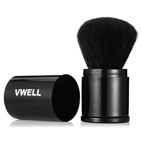 Makeup Brush Foundation Travel Retractable Kabuki Brush Blush Brushes Move New Extensible Concealer Brushes Cosmetic Tool Vwell (Brush Kabuki Retractable)