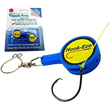HOOK-EZE Fishing Gear Knot Tying Tool for Fishing Hooks – Cover Hooks on Fishing Rods | Line Cutter | for Saltwater Freshwater Bass Kayak Ice Fishing