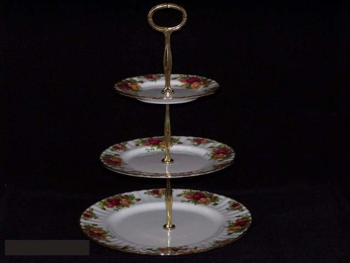Royal Albert Old Country Roses Hostess Tray 3 Tier