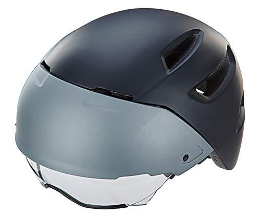Prophete S-Pedelec helm, uniseks, volwassenen, maat: 54-58 cm, mat zwart/grijs, TÜV/GS getest, fietshelm