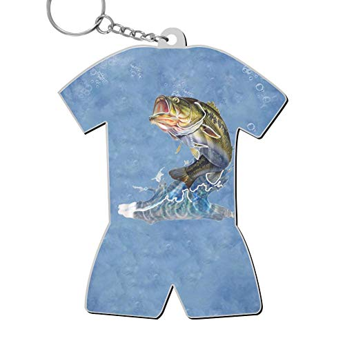 Zinc Alloy Metal Home Key Buckle Print Fish Bass Jumping Out of Water Best Gift for Friends Men Women - Jumping Fish Buckle