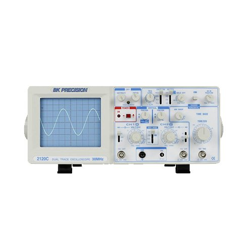 (BK Precision 2120C-EXD 30 MHz Dual Trace Analog Oscilloscope With Probes, 220V Version)