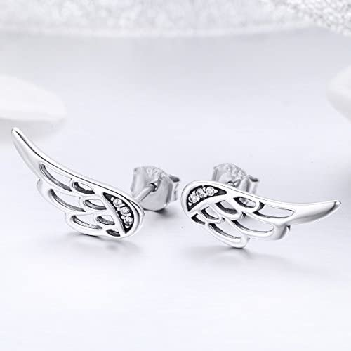 Everbling Petite Heart 925 Sterling Silver Stud Earrings