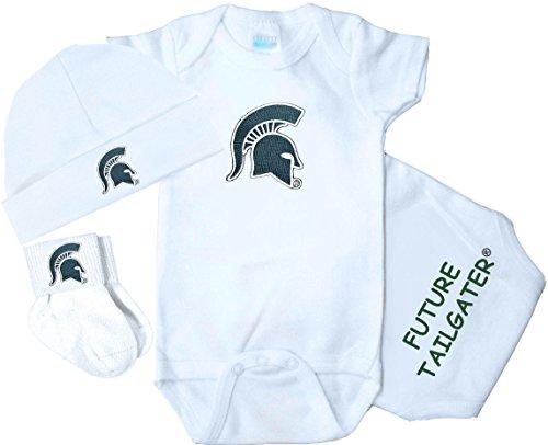 Future Tailgater Michigan State Spartans 3 Piece Baby Clothing Set (Newborn)