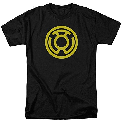 (Green Lantern - Yellow Emblem T-Shirt Size XL)
