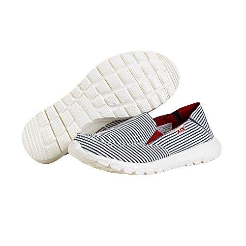 Dude Shoes Women's Ava Stripes Blue Slip On / Mule Blue Stripes