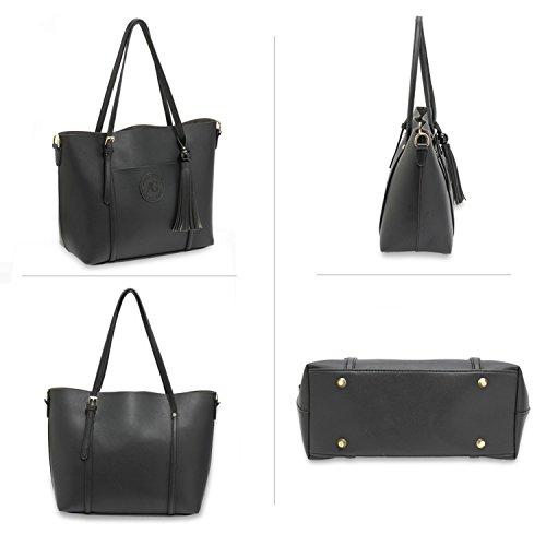 Shoulder W32cm X H27cm Shopper Leahward D14cm Women's Bag 2985 Strap Large Long Black q1WPXfxSw