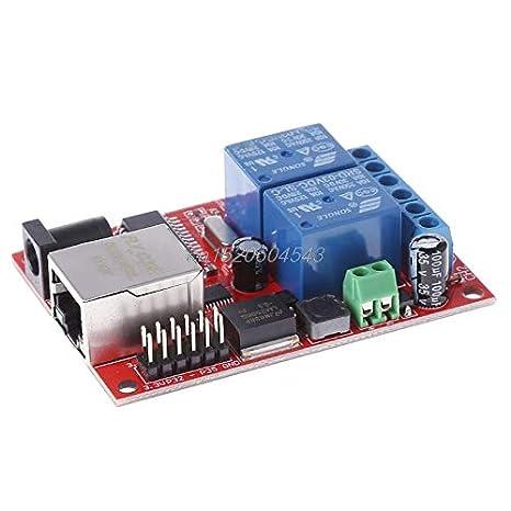 NASHINAL LAN Ethernet 2 Way Relay Board Delay Switch TCP/UDP