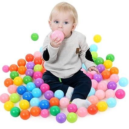Spielzeug für draußen Soft Balls 100 Pcs With A Storage Bag Multicolored Bpafree Play Tent Balls Th...