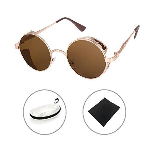 Steampunk Antique Copper Cyber Goggles Rave Goth Vintage Victorian Sonnenbrillen Inklusive GRATIS UV400 Sonnenbrille Objektiv Reu56YYHU