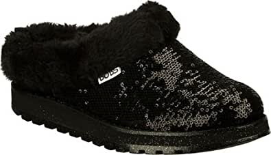 Skechers Women's Keepsakes-shivers Flat Black Size 5m