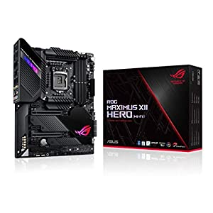 ASUS ROG Maximus XII Hero Z490 (WiFi 6) LGA 1200 (Intel 10th Gen) ATX Gaming Motherboard (14+2 Power Stages, DDR4 4800…