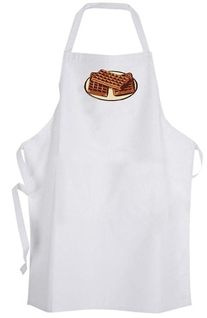 Waffles on aプレート – サイズ大人用エプロン – 食品朝食シェフクックキッチンBrunch   B06XQ525X8