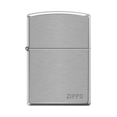 Zippo Pipe with Engraved Logo Brushed Chrome Lighter