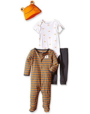 Carter's Baby Boys' 4 Piece Layette Set-Crab