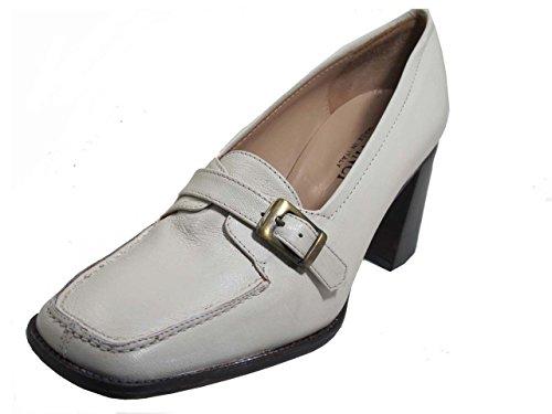 White Low Toe Leather Heel Square Designer and Casual Heel DA'VINCI Women's Dress Shoes XwvpSqOwU7