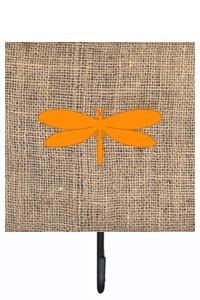 Small Multicolor Carolines Treasures BB1061-BL-OR-SH4 Moth Burlap and Orange Leash or Key Holder Bb1061