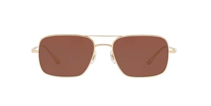 acb38ece072 Amazon.com  New Oliver Peoples 0OV1246ST VICTORY LA 5292C5 WHITE GOLD  Sunglasses  Clothing