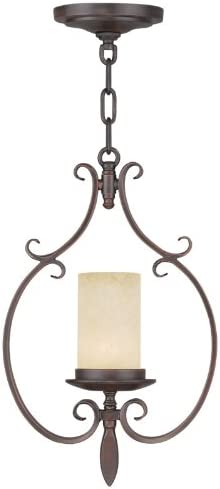 Livex Lighting 5480-58 Millburn Manor 1-Light Mini Pendant, Imperial Bronze