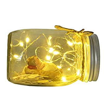 Mason Jar Lid String Lights, 10 Led String Fairy Star Firefly Jar Lids Lights with Polyresin Baby Jesus, for Mason Jar Patio Garden Religious Lantern Table Decoration