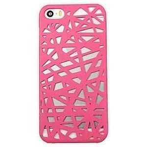ZLXUSA (TM) Creative Gridding Solid Color Back Case for iPhone 5/5S Rose hjbrhga1544