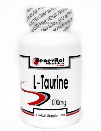 L-Taurine 1000mg 200 Capsules ~ Renevitol