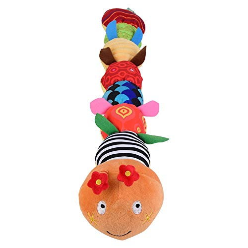 Baby Cartoon Caterpillar Plush Doll Musical Bell Ring Rattle Toy