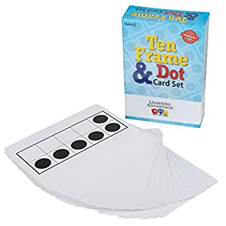 Learning Advantage Ten Frame & Dot Card Set - Math Manipulative - in-Home Learning - Math Game for Kids