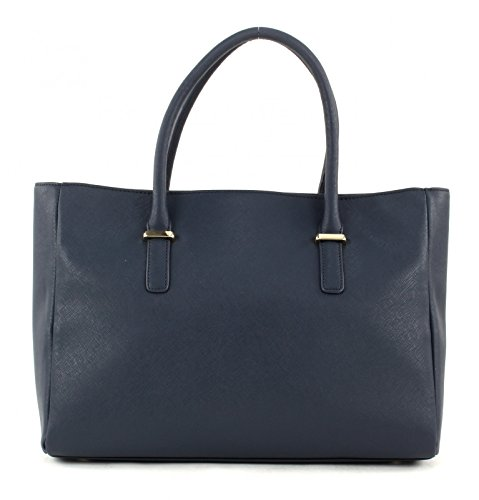 TOMMY HILFIGER Turn Lock Satchel Tweed Midnight/Corporate