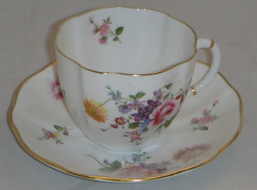 Royal Crown Derby Replacements (Royal Crown Derby Derby Posies Flat Cup & Saucer Set (Imperfect))