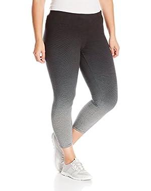 Performance Women's Plus-Size Ombre Stripe Legging