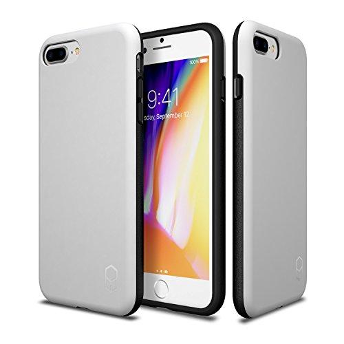 iPhone 8 Plus 7 Plus Case, Patchworks ITG Level Case in [White] Rough Side Texture Grip Drop Protection Anti-Fingerprint Matte Surface Slim Fit Solid Case for iPhone 8 Plus (2017) iPhone 7 Plus (2016)