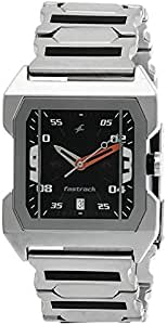 Fastrack Men's Black Dial Stainless Steel Band Watch - 1474SM02