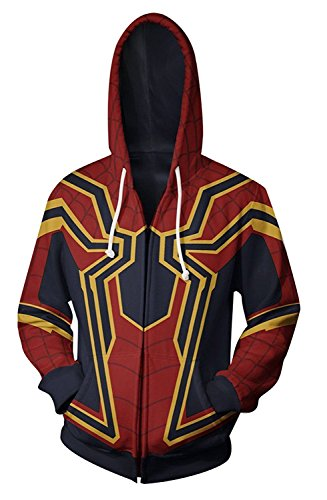 (Koveinc Superhero Halloween Cosplay Costume Mens Hoodie)