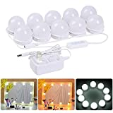 LED Vanity Mirror Lights Kit - MRah Upgraded 2 Color Lighting Modes Makeup Mirror Lighting Fixture with 10 Dimmable Bulbs for Vanity Table Set, Bathroom Mirror (Mirror Not Included)