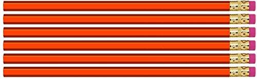 Orange Hexagon #2 Pencil, Eraser. 36 Pack. Express PencilsTM