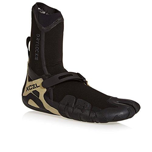 Xcel Drylock 3mm Split Toe Boot Fall 2017, Black/Gum, 12
