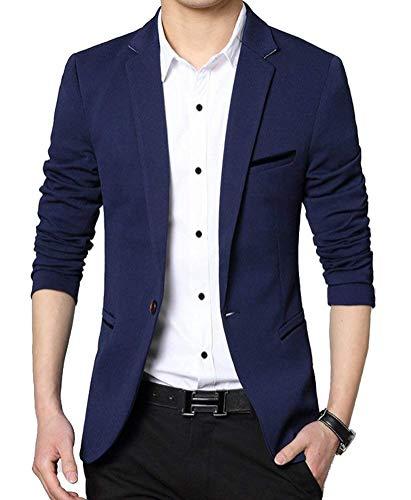 Giacca Fit Da Blazer Moderna Elegante Uomo E Slim Business Essenziale Sportiva Dunkelblau Per Libero Tempo Il EqA0dUS0