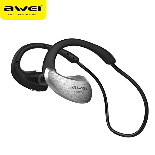 Awei A885BL Waterproof Bluetooth Wireless Sports Headphones (Gray) - 1