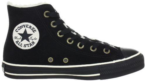 Converse All Star Hi Suede Shearling Chocolate 111516 Unisex - Erwachsene Fashion Sneakers Schwarz (Black)