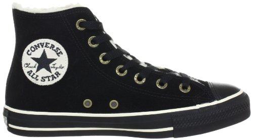 Converse All Star Hi Suede Shearling Black 111517 - Zapatillas fashion de ante unisex, color negro, talla 39,5 Dunkelgrün