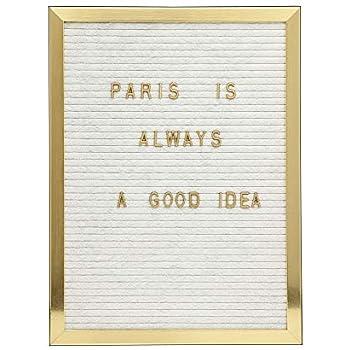 Amazon.com: Bauhaus Decor - Pizarra de fieltro con marco de ...